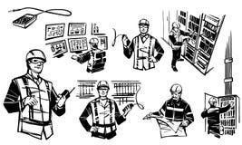 Illustration, die Automatisierungsingenieure darstellt stock abbildung