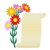 Blume und Rolle. Stockbilder