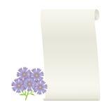 Blume und Rolle. Lizenzfreie Stockbilder