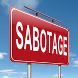 Sabotagekonzeptzeichen. Lizenzfreie Stockfotografie