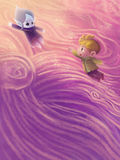 Illustration: Die Schnee-Prinzessin Sleeps stockfotos