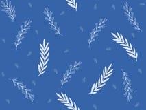 illustration, différent, blanc, bleue, brindilles, branches, bleu, fond illustration de vecteur