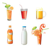 Illustration of different beverages Royalty Free Stock Photo