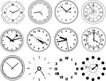 Illustration of different clocks Stock Photography