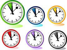 Illustration of different clocks Stock Photos