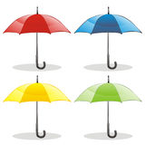 Illustration of different colored umbrellas Royalty Free Stock Photos