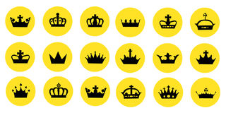 Illustration of different crowns Royalty Free Stock Photo