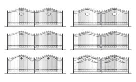 Illustration of the different designs of fences Royalty Free Stock Photography
