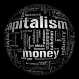 Illustration with different economic terms Stock Images
