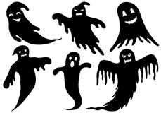 Illustration Of Different Ghosts Stock Photo