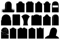 Illustration of different Halloween gravestones. Isolated on white Royalty Free Stock Image