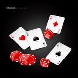 Poker elements Royalty Free Stock Image