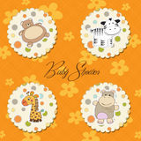 Illustration of different  items for baby Royalty Free Stock Photography