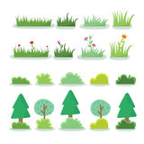 Illustration of different kind of tree Royalty Free Stock Image