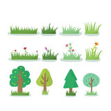 Illustration of different kind of tree Stock Photography