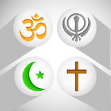 Illustration of different religion background. Illustration of elements of different religion and culture background Stock Photo