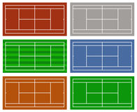 Illustration of different tennis courts Royalty Free Stock Images