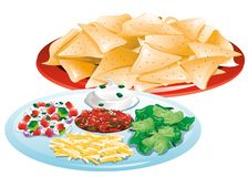 Chips and toppings Stock Image