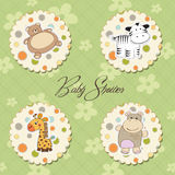 Illustration of different toys items royalty free illustration