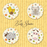 Illustration of different toys items for baby Stock Photo