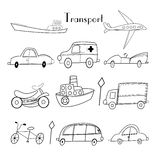 Illustration of different types of transport Royalty Free Stock Photography