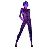 Illustration Digital 3D einer Zukunftsroman-Frau Stockfotos