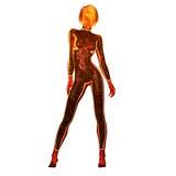 Illustration Digital 3D einer Zukunftsroman-Frau Stockbilder