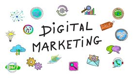 Concept of digital marketing royalty free stock images