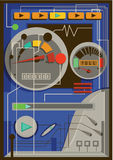 Illustration of a digital speedometer Royalty Free Stock Photos