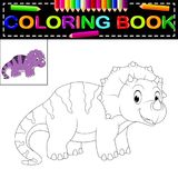 Dinosaur coloring book. Illustration of dinosaur coloring book Royalty Free Stock Image