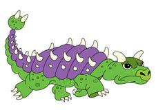 The illustration of a dinosaur Euoplocephalus. For chidren book royalty free illustration