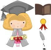 Illustration - a diploma and graduation Royalty Free Stock Photography