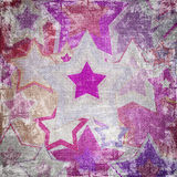 Illustration of dirty fabric stars Stock Photography