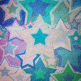 Illustration of dirty fabric with stars Royalty Free Stock Photography