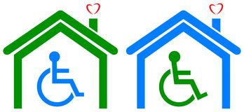 Disabled health care home Stock Images