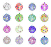 Disco balls set Stock Image