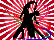 Illustration disco dancers Royalty Free Stock Images
