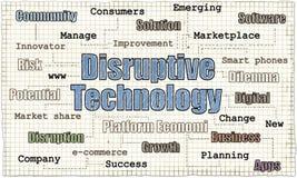 Illustration disruptive de technologie illustration de vecteur