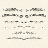Illustration of dividers on a sheet of lined paper Royalty Free Stock Photo