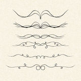 Illustration of dividers on a sheet of lined paper Royalty Free Stock Photography