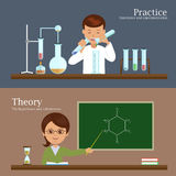 Illustration of the division of the educational process. Science and education: illustration of the division of the educational process in the theory and royalty free illustration
