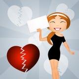 illustration of divorce Royalty Free Stock Image