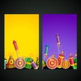 Illustration of diwali card Royalty Free Stock Photo
