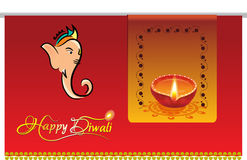 Illustration of diwali celebration Royalty Free Stock Images