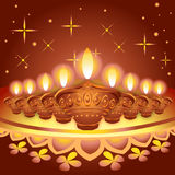 Illustration of Diwali diya festival Stock Images