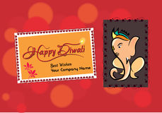 Illustration of diwali wish Stock Images