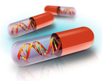 Illustration of DNA in capsule Royalty Free Stock Image