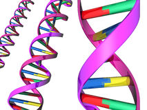 Illustration of DNA double helix Stock Images