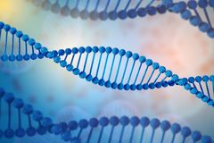 Illustration of DNA molecule. The helical molecule in the environment of the organism. Genetically modified. Illustration of DNA molecule. The helical molecule stock illustration
