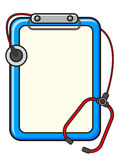 Illustration of doctor blank note Royalty Free Stock Images